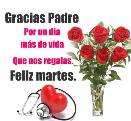 Feliz Martes gracias Dios