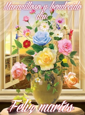Feliz Martes maravilloso día