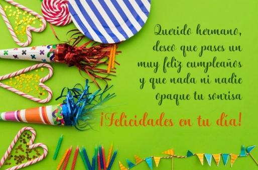 Feliz cumpleaños Hermano Alegre