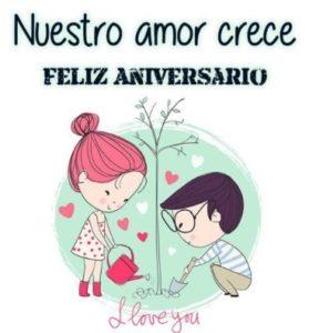 feliz aniversario nuestro amor crece