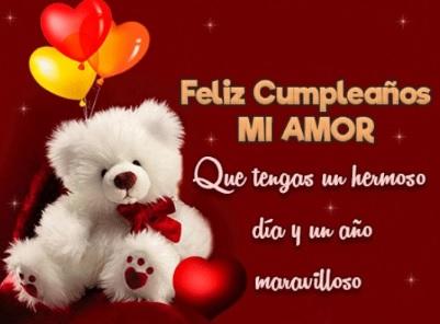 feliz cumpleaños amor mío