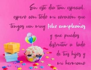 feliz cumpleaños cuñada bondadosa