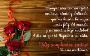 feliz cumpleaños esposo romántico