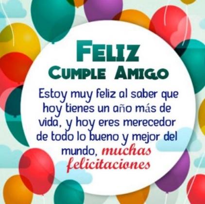 feliz cumpleaños estimado amigo