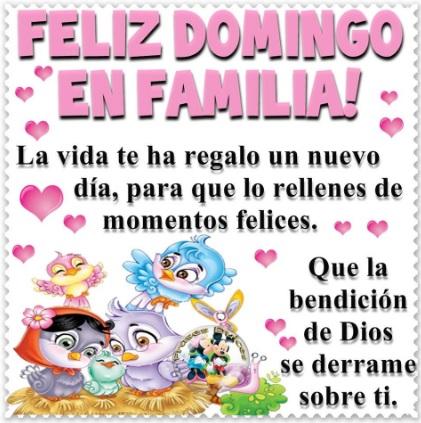 Feliz Domingo para mi familia