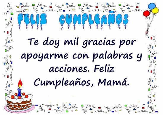 Feliz cumpleaños madre adorada