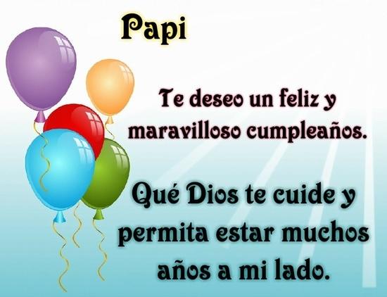 feliz cumpleaños papito querido
