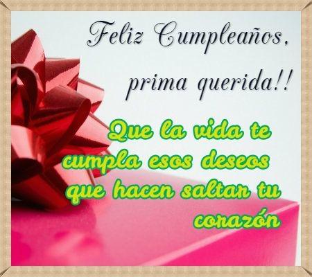 Feliz Cumpleaños Prima alegre