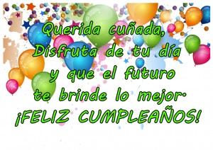 feliz cumpleaños cuñada maravillosa