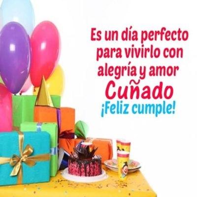 feliz cumpleaños cuñado maravilloso