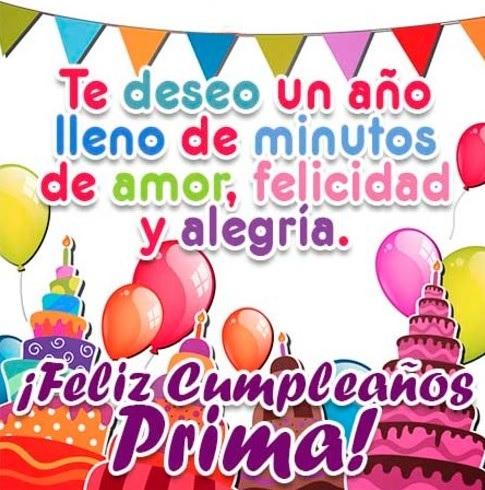 feliz cumpleaños prima maravillosa