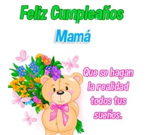 Feliz cumpleaños mami bella