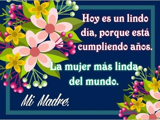 Feliz cumpleaños mami bendecida