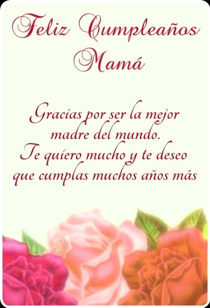Feliz cumpleaños mami hermosa