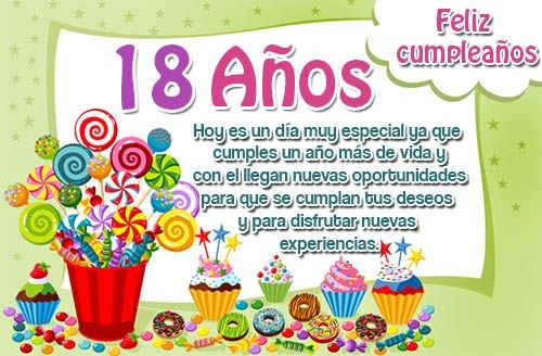 feliz cumpleaños 18 hijito