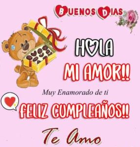 Feliz Cumpleaños mi amorcito te amo