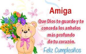 Feliz Día de Cumpleaños Amiga Querida