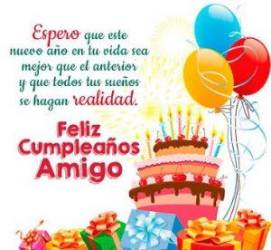 Feliz Día de Cumpleaños Amigo Estimado