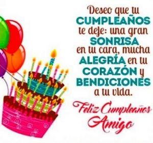 Feliz Día de Cumpleaños Amigo Querido