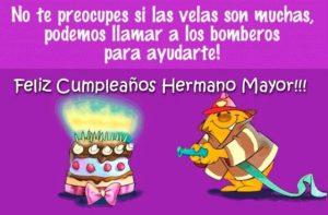 Feliz Día de Cumpleaños Hermano Mayor