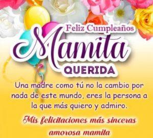 Feliz Día de Cumpleaños Mamá Amorosa