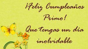 Feliz Día de Cumpleaños Primo Fantástico