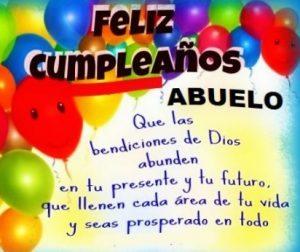 Feliz Día de Cumpleaños Abuelo Amado