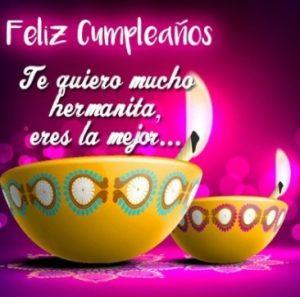 Feliz Día de Cumpleaños Hermana Romántica