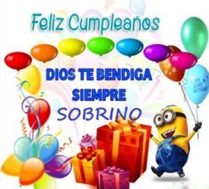 Feliz Cumpleaños Adorado Sobrino