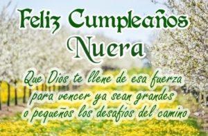 Feliz Cumpleaños Nuera Perseverante