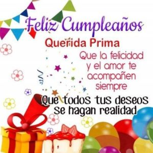 Feliz Cumpleaños Prima romántica