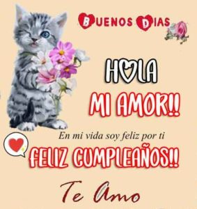 Feliz Cumpleaños mi amor te amo